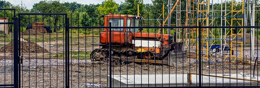 barrière de chantier protection des chantiers